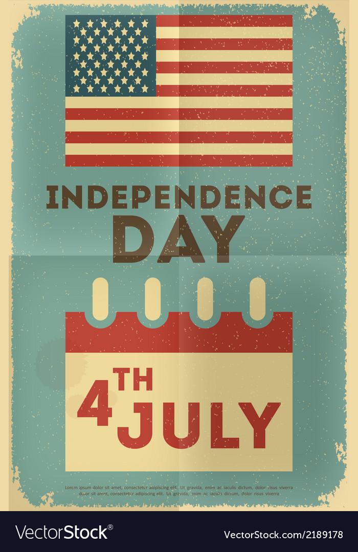 Independence poster flag