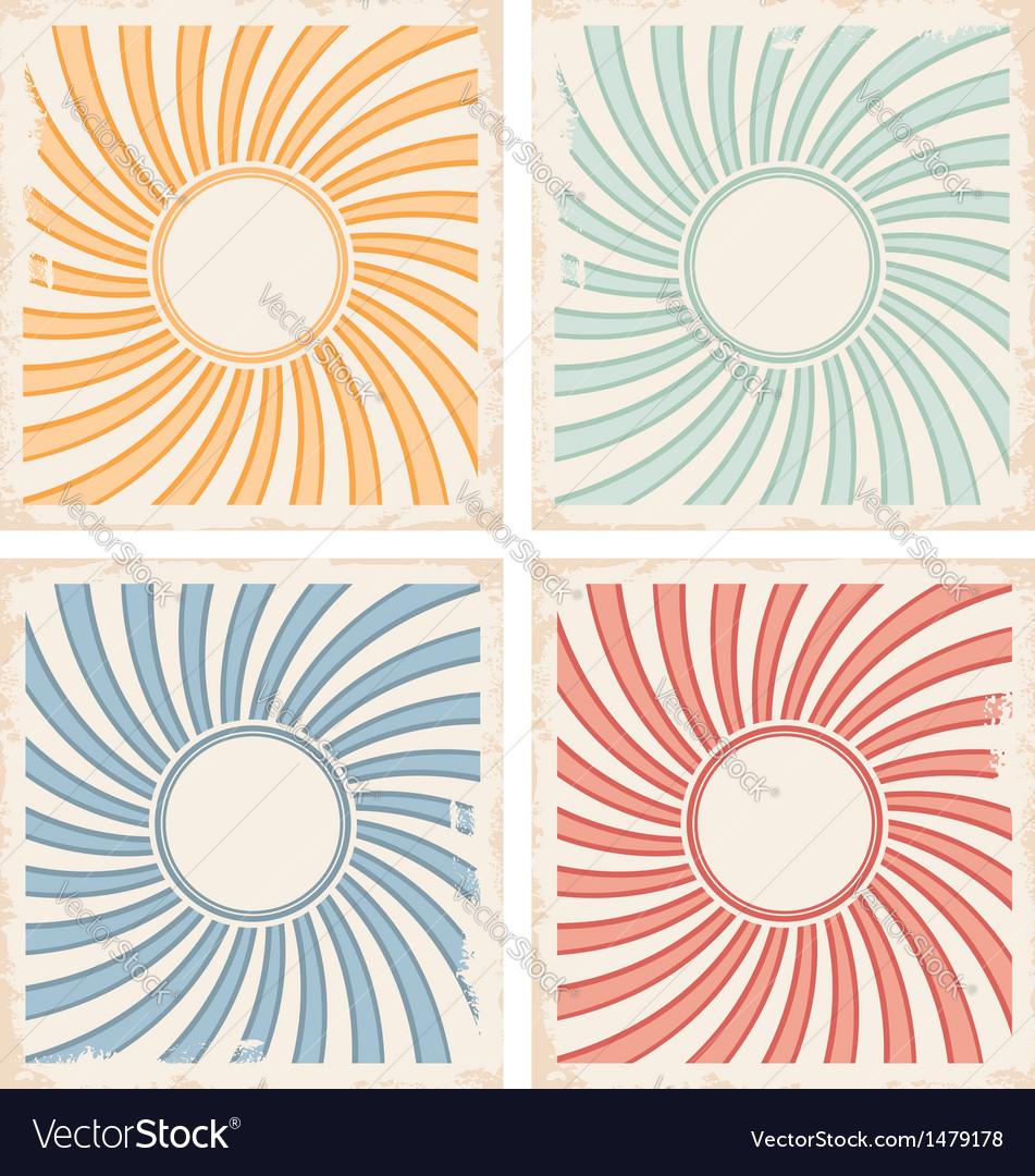 Vintage Card Background Templates Vector Image