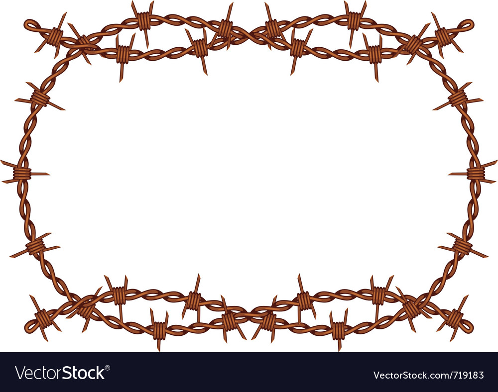 Barbed wire frame Royalty Free Vector Image - VectorStock