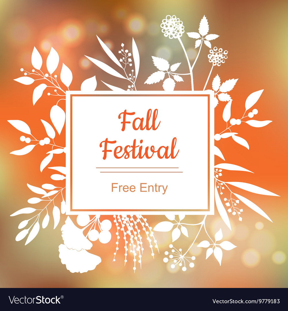 Fall festival colorful vector image