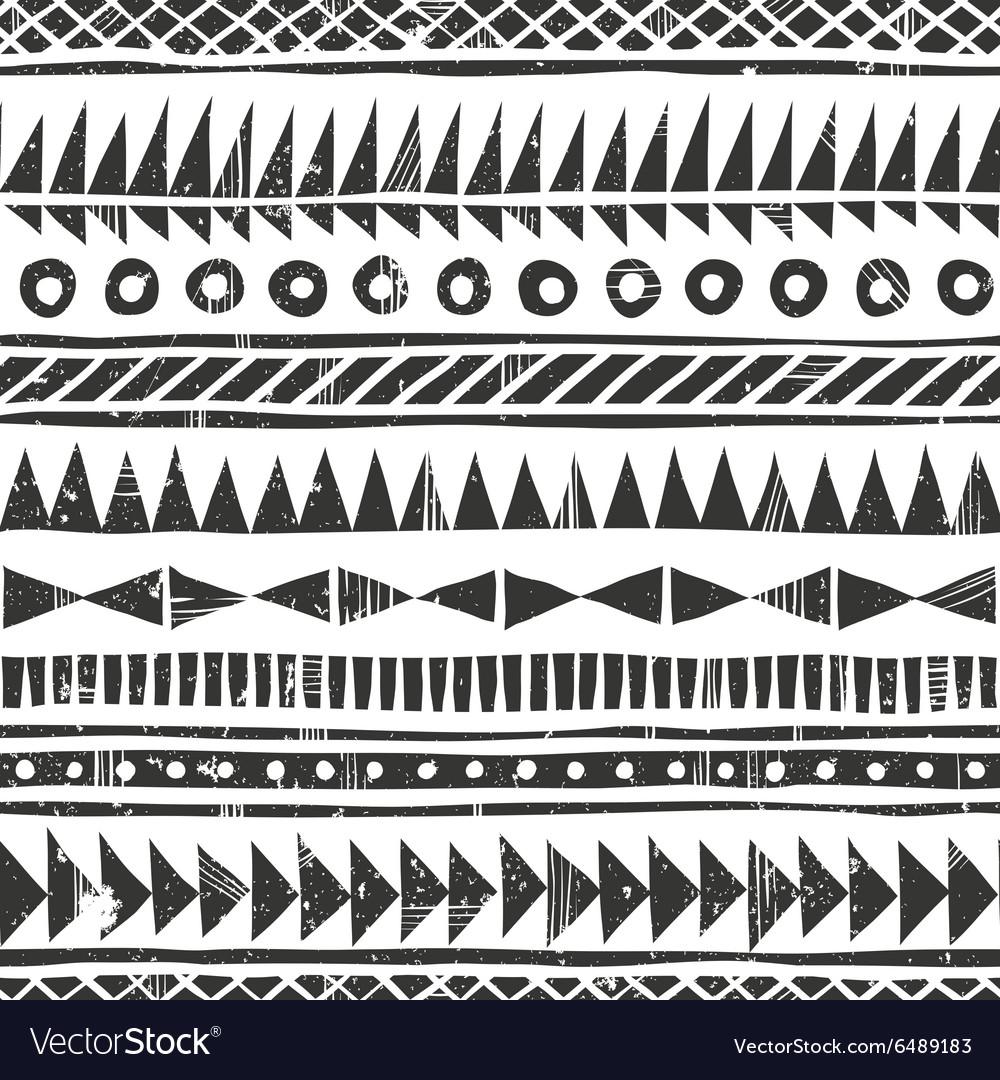 Hand drawn tribal pattern Primitive