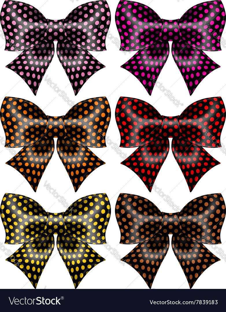Holiday black polka dot bows
