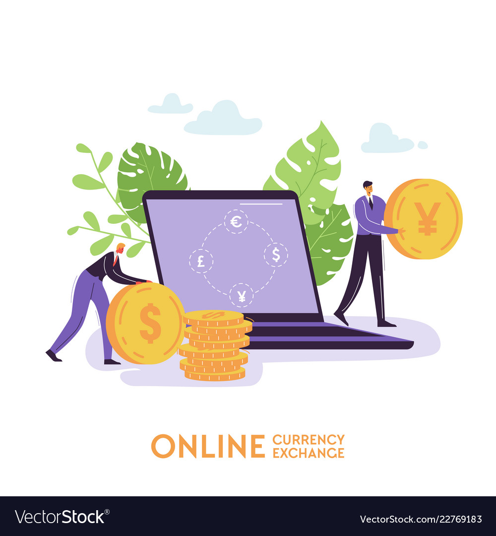 Mobile currency exchange service online banking