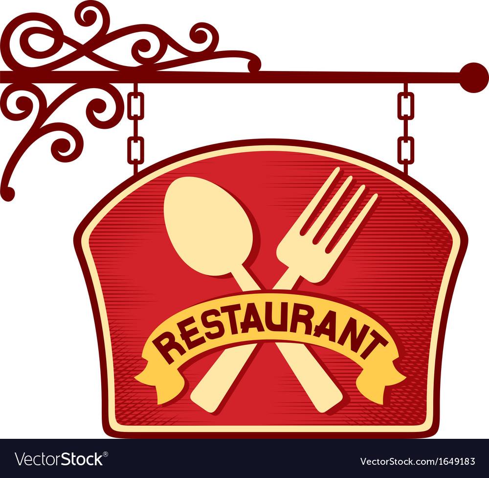 Restaurant sign restaurant symbol
