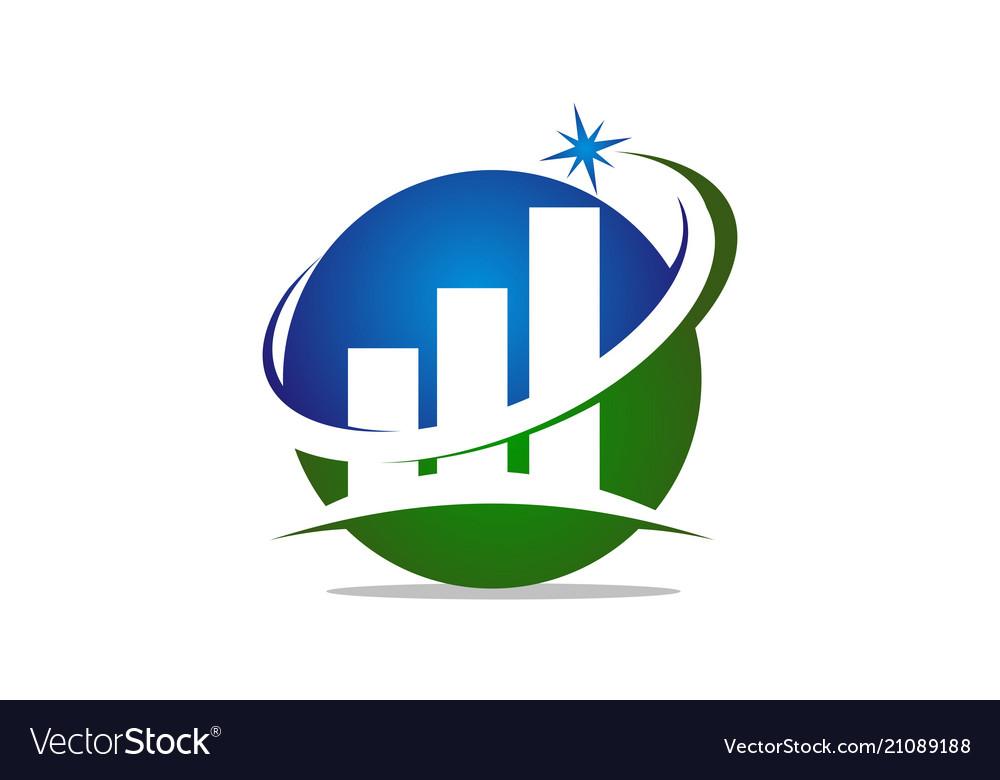 Business success logo design template