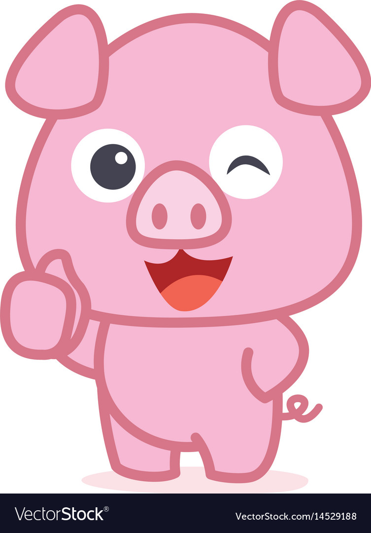 character of cute pig cartoon royalty free vector image