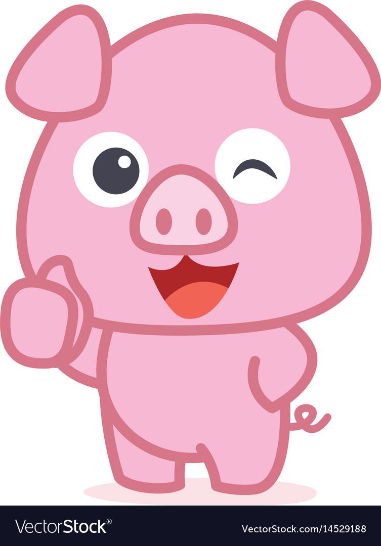 character of cute pig cartoon royalty free vector image rh vectorstock com pig vector art free pig vectorize logo