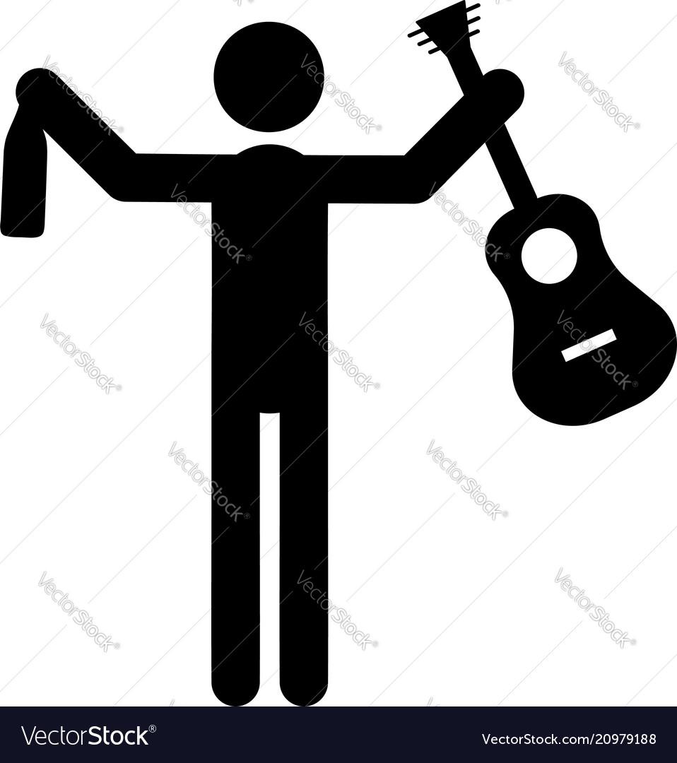 Drunk musician icon