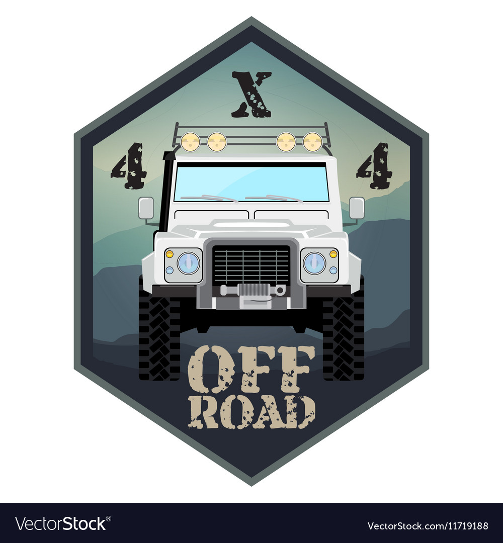 Khaki offroad car truck 4x4