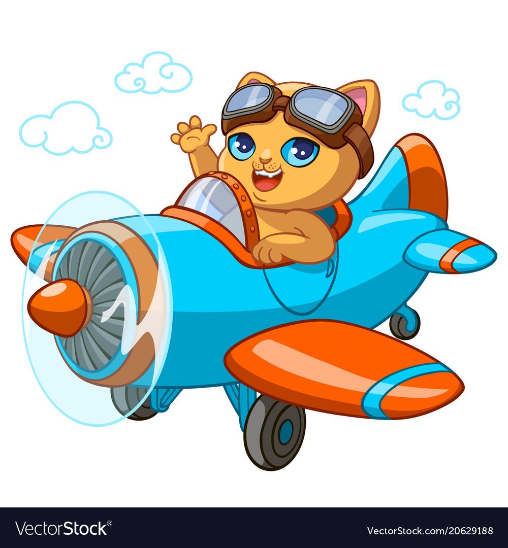 Kitty pilot cartoon of kitten