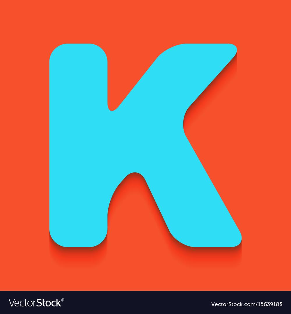 letter k sign design template element royalty free vector