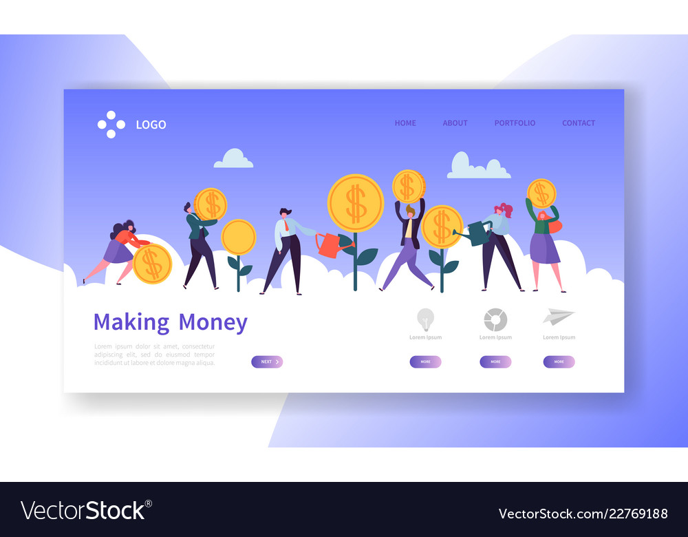 Making money landing page business investment