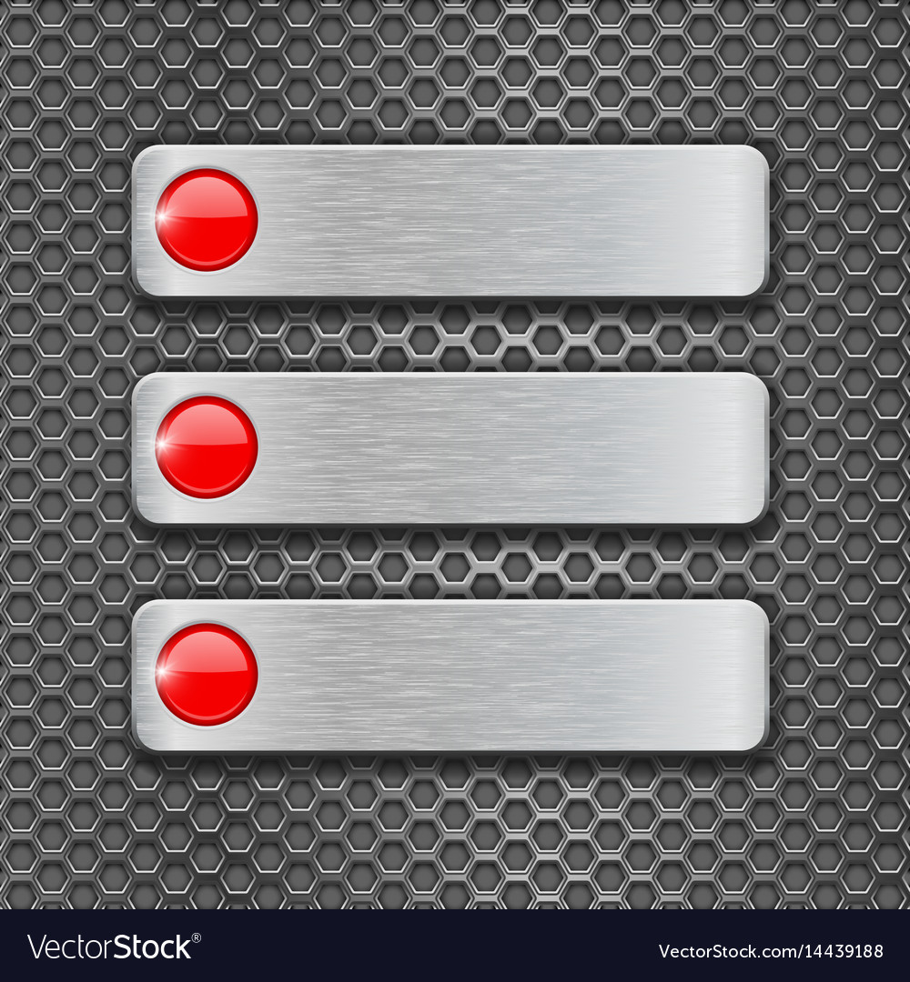 Metal perforated background with steel plates vector image