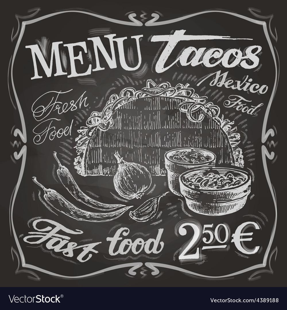 Mexican food logo design template tacos burritos