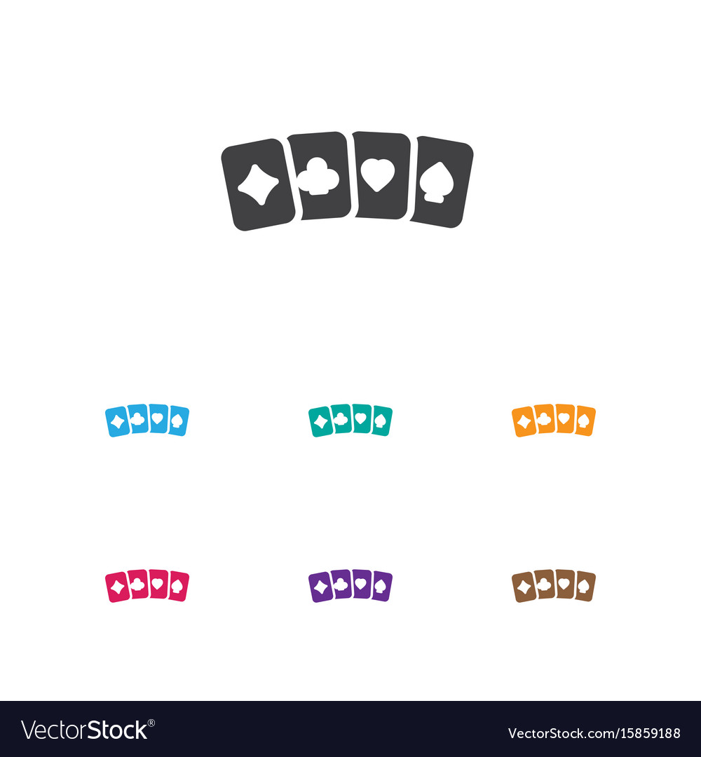 Of gambling symbol on card