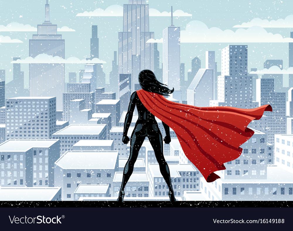 Super heroine watch vector image