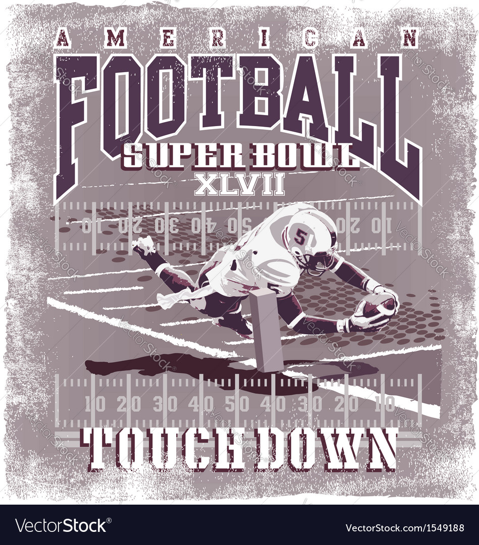 Touchdown American Football vector image