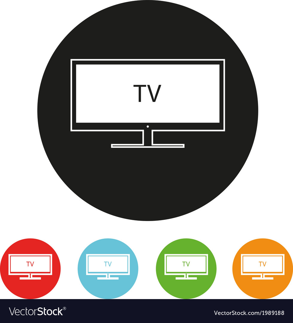 Tv sets silhouette icons for your design vector image