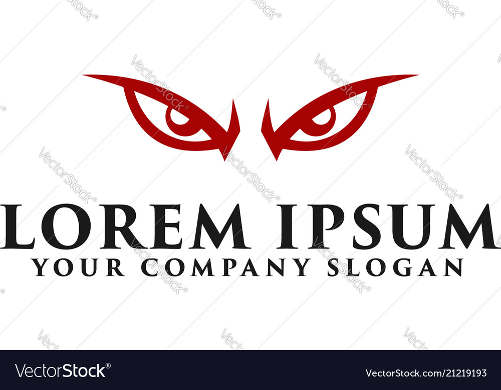 Angry eye logo design concept template