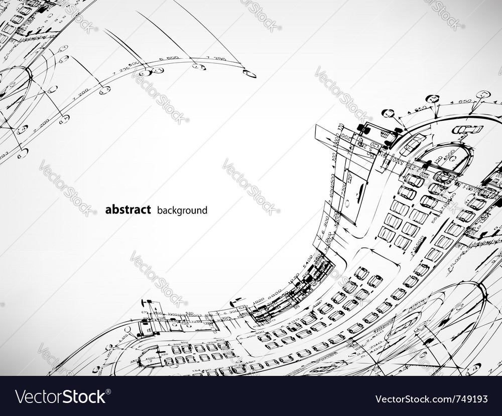 Architectural sketches background