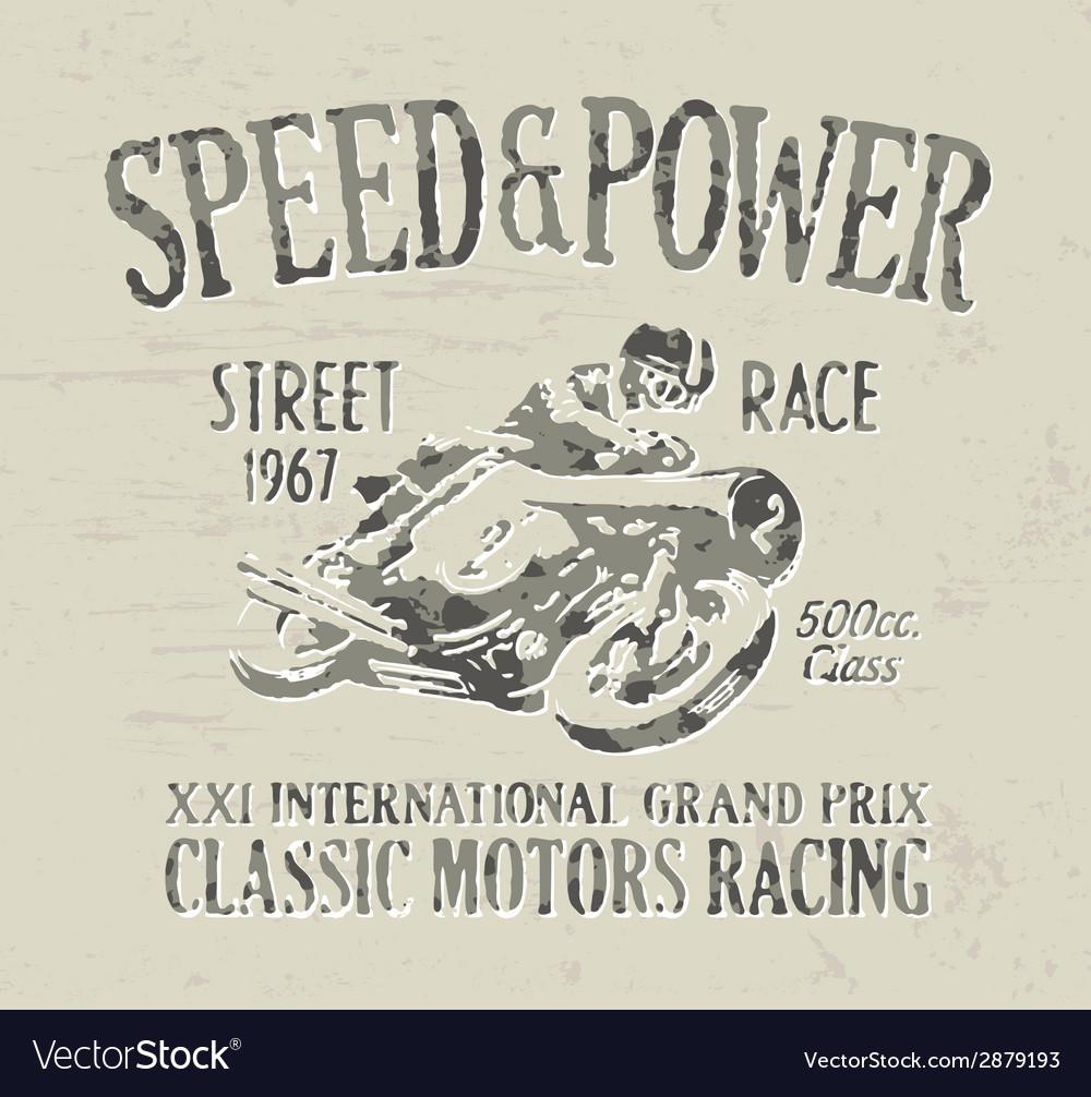 Classic motorcycle racing vector image