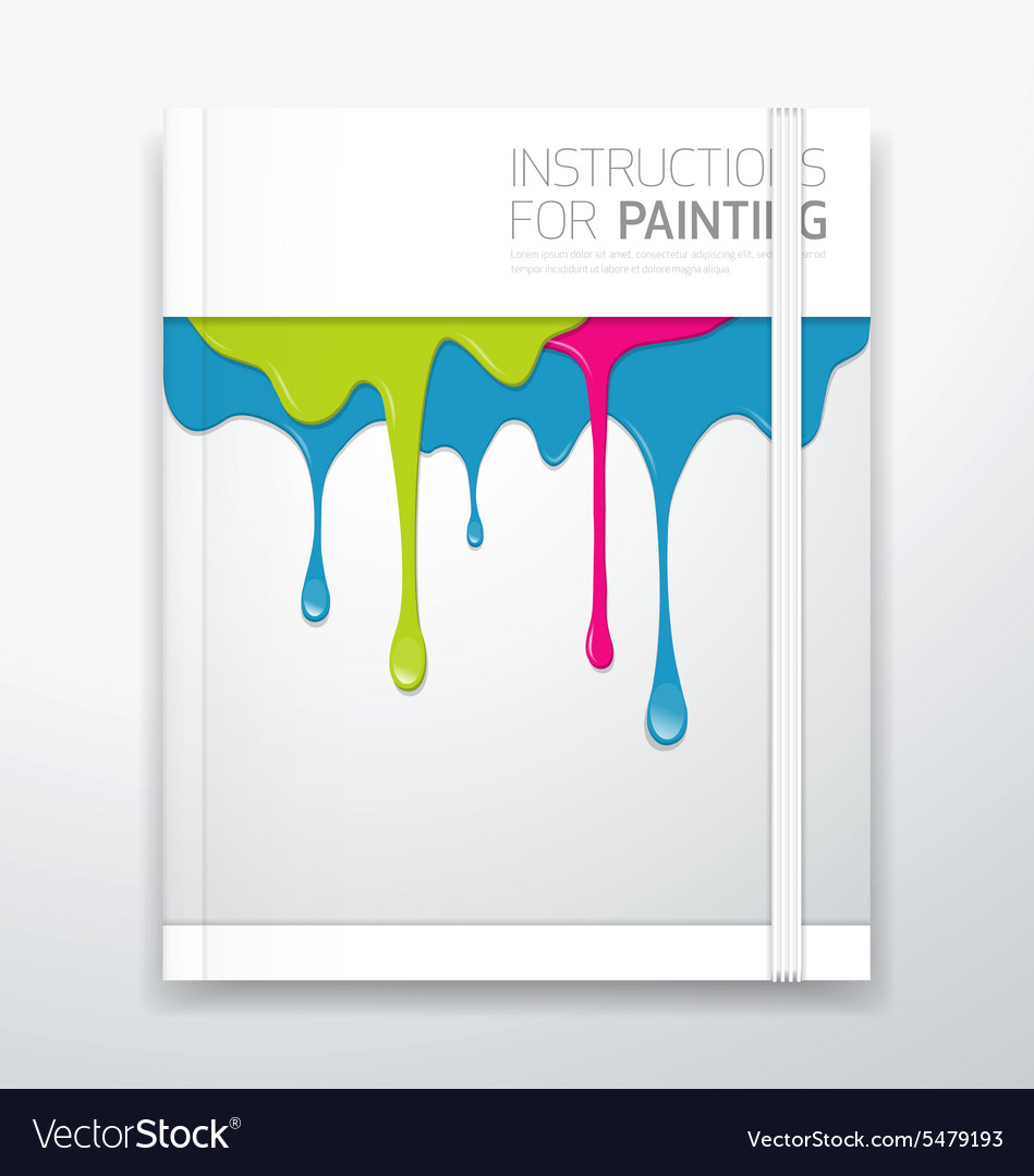 Cover paint colorful dripping
