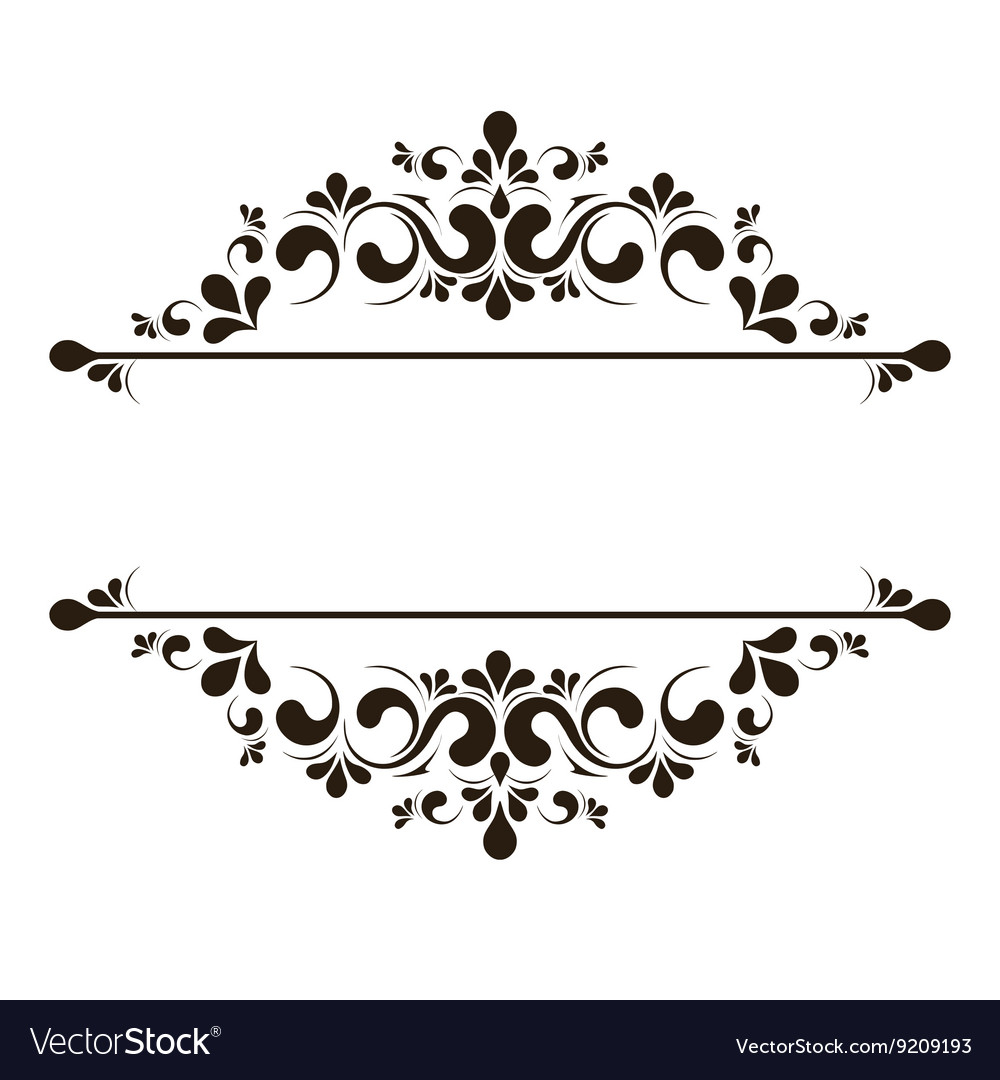 Elegant frame banner floral elements Royalty Free Vector
