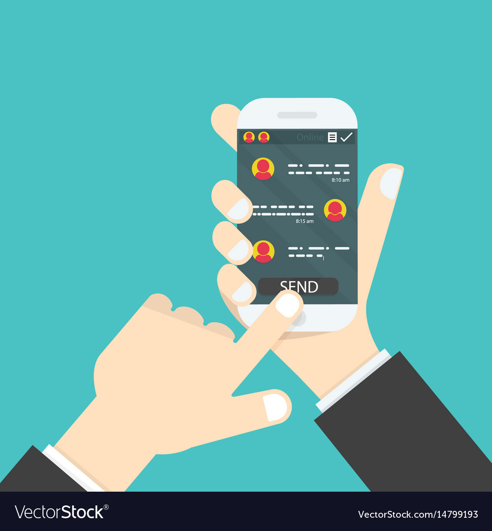 Hand holding mobile phonesocial network