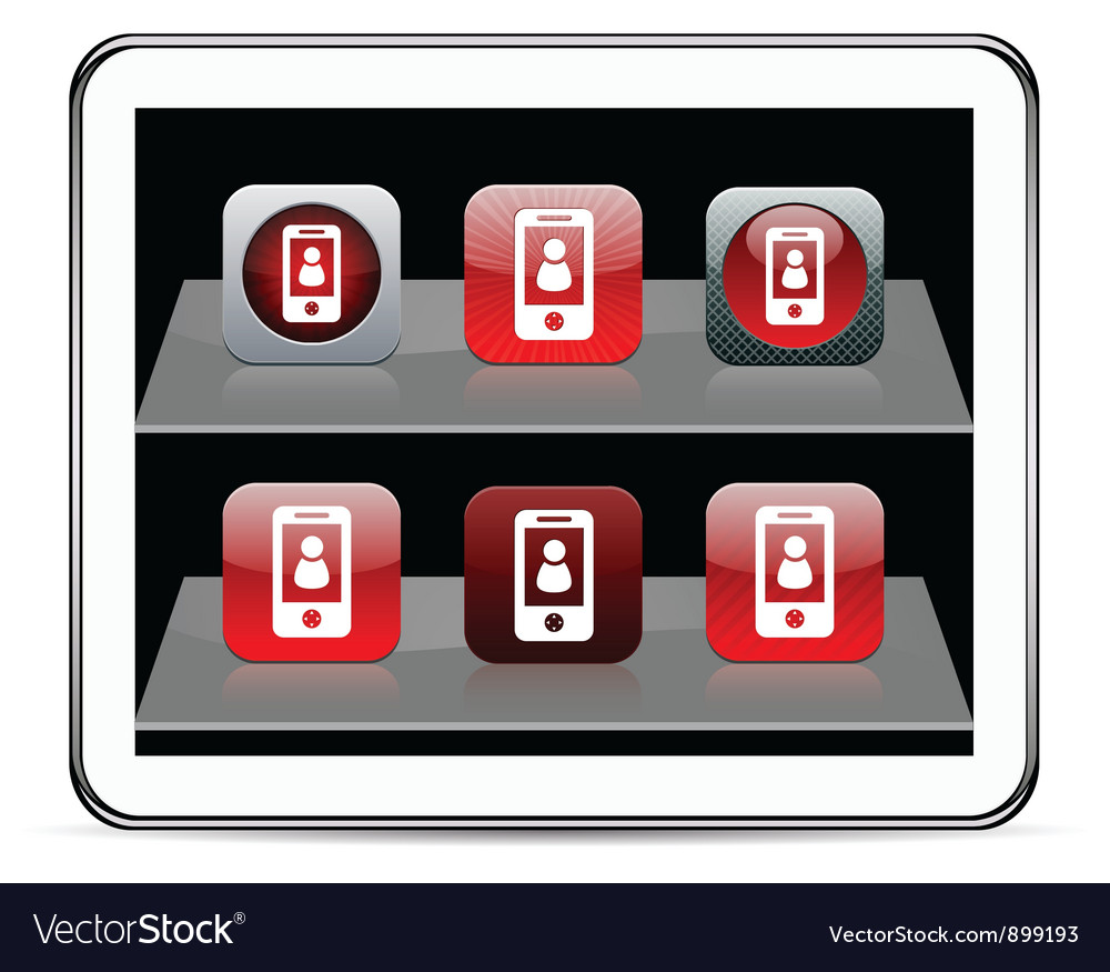 Person red app icons vector image
