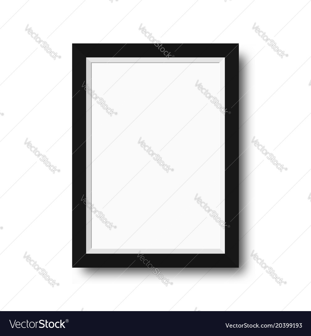 Photo frame with black borders wooden photo frame