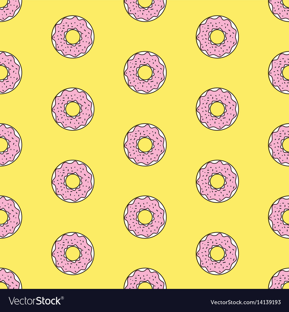 Seamless pattern background with colorful donuts