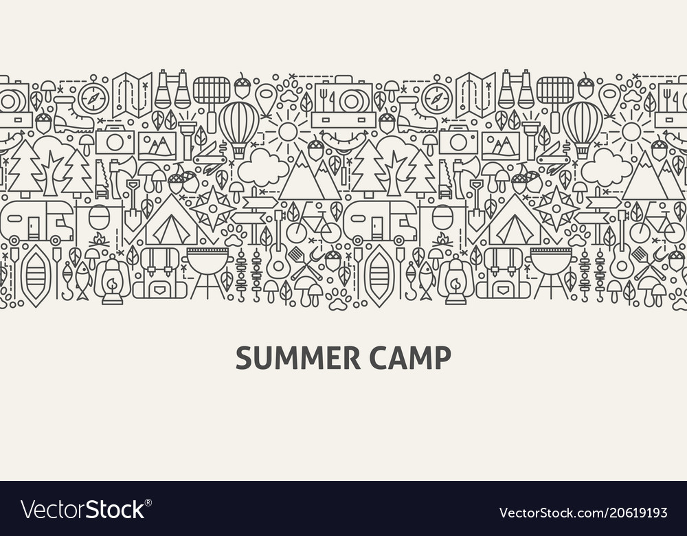 Summer camp banner concept