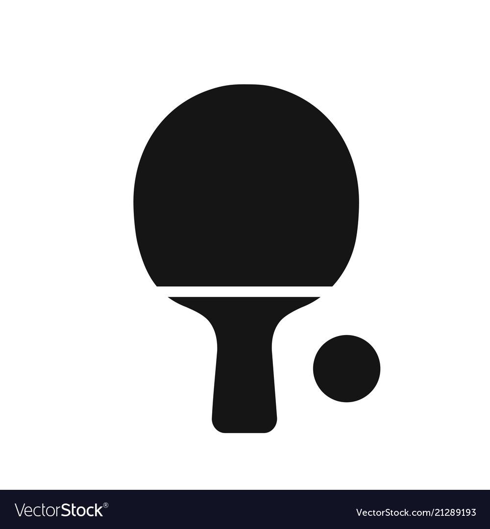 Tabble tennis racket black simple icon