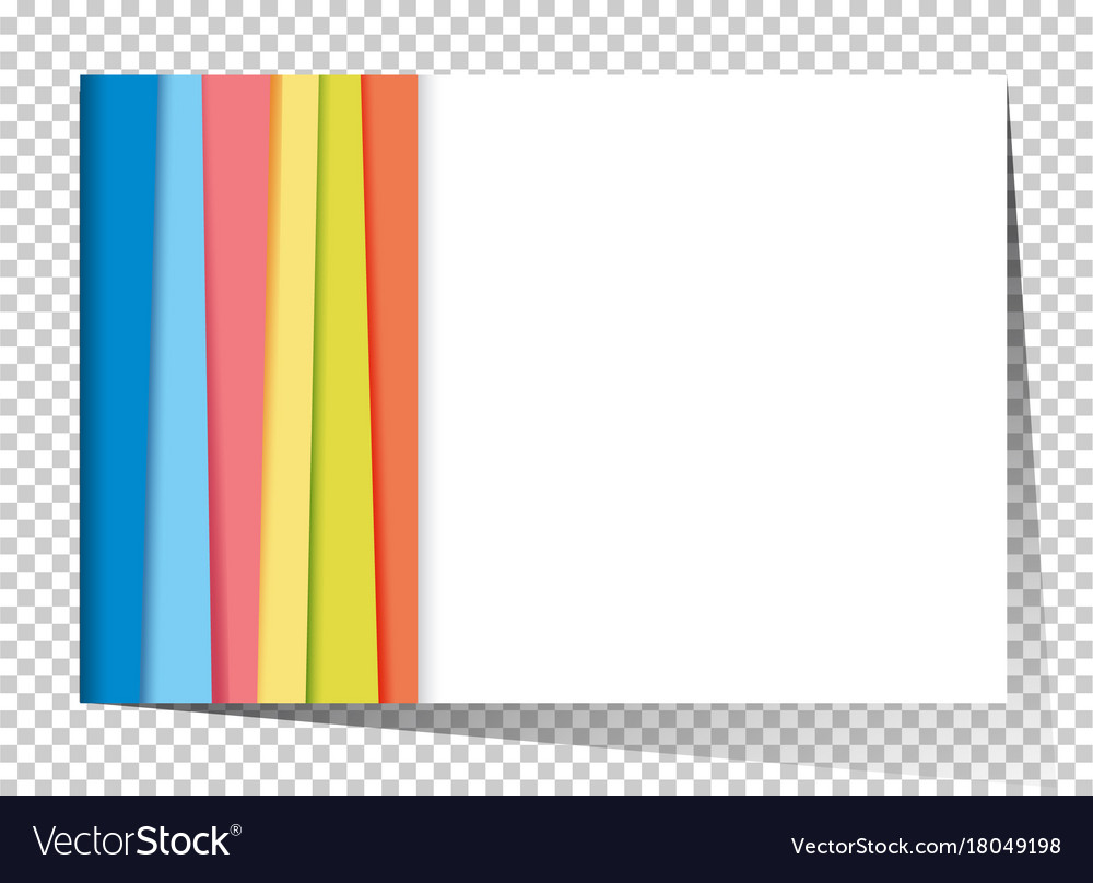 Businesscard template with rainbow in background vector image reheart Choice Image