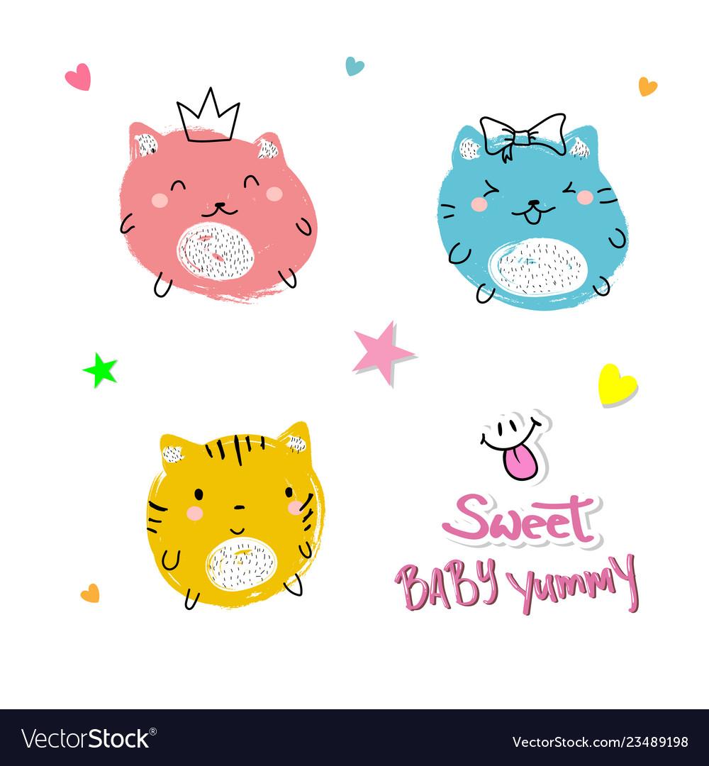 Cute cats slogan