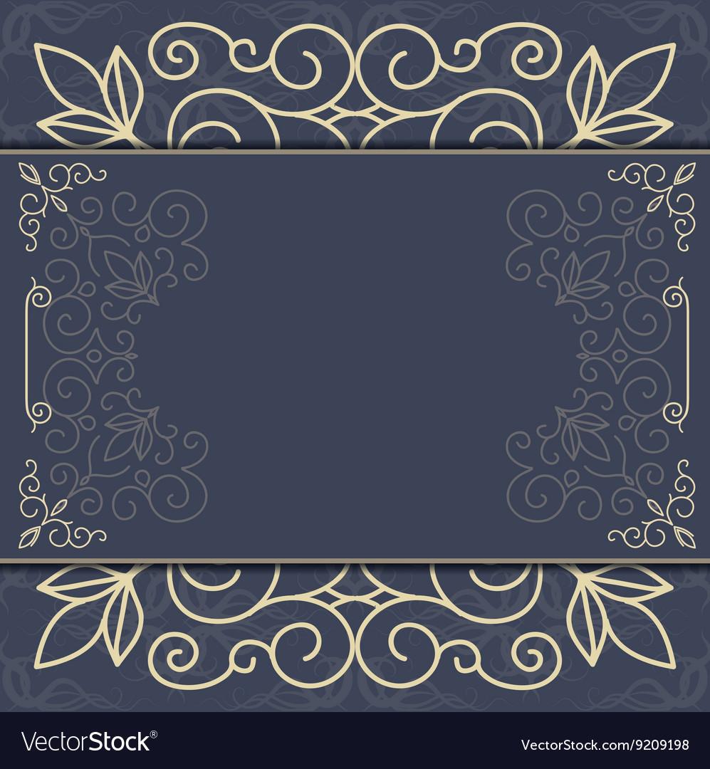 Elegant ornate background ornament for invitations