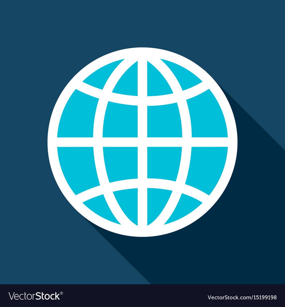 Globe flat icon