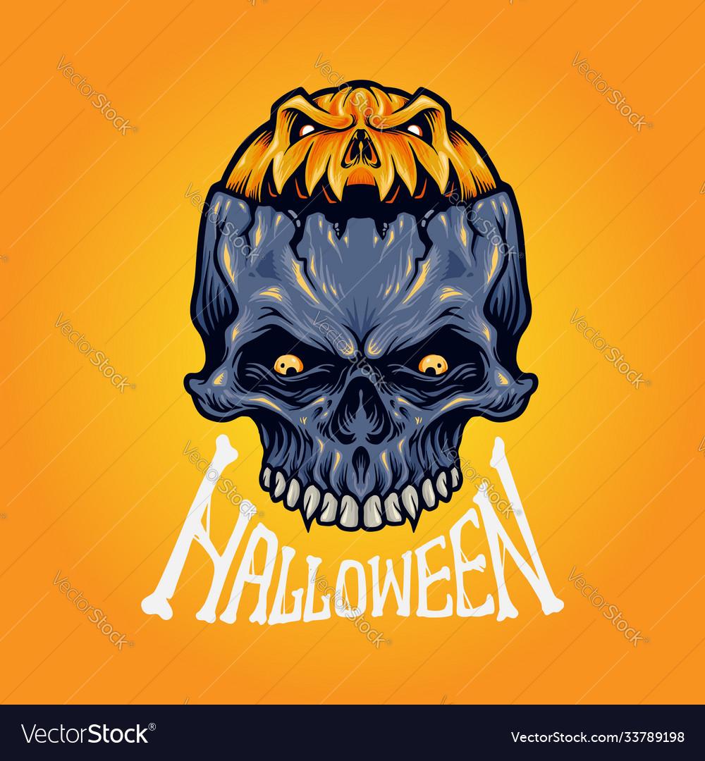 Halloween skull isolated