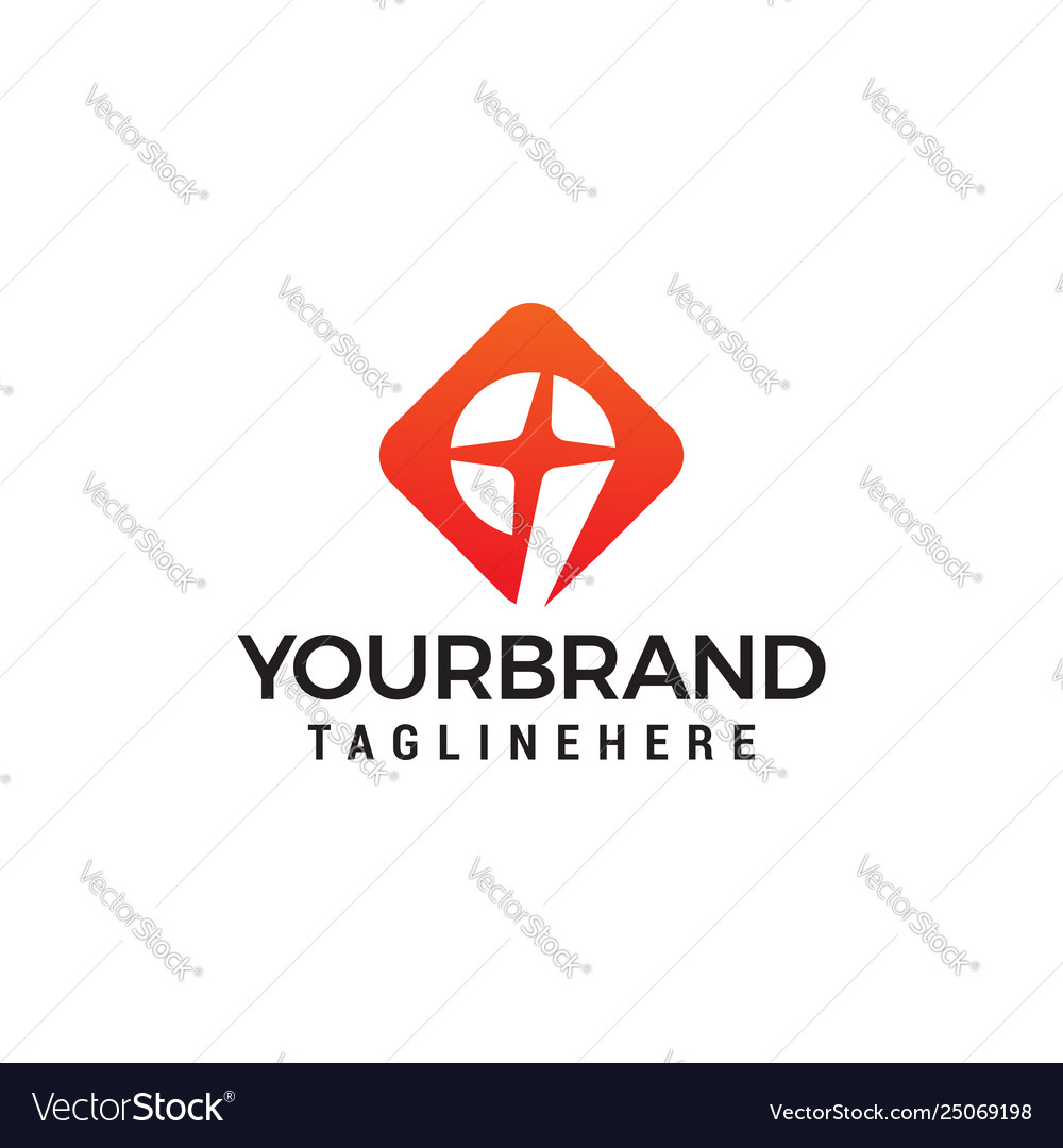 Number 9 star logo design concept template