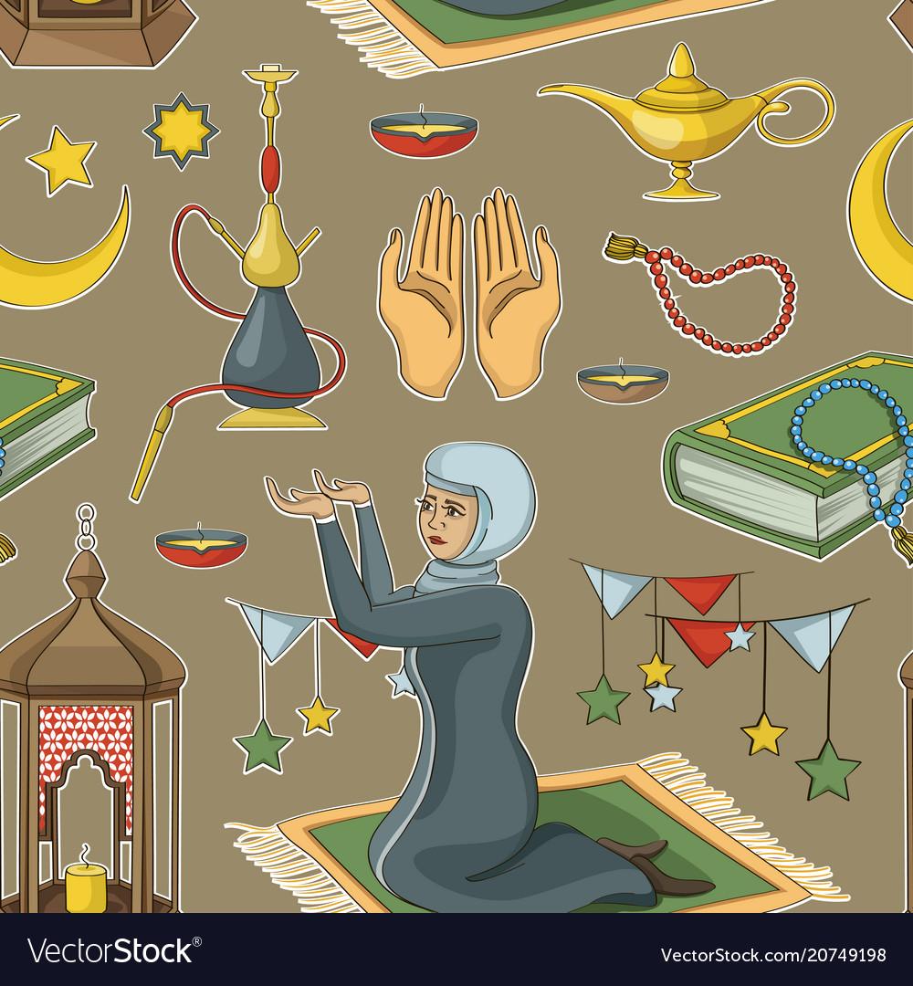 Ramadan muslims holy month pattern