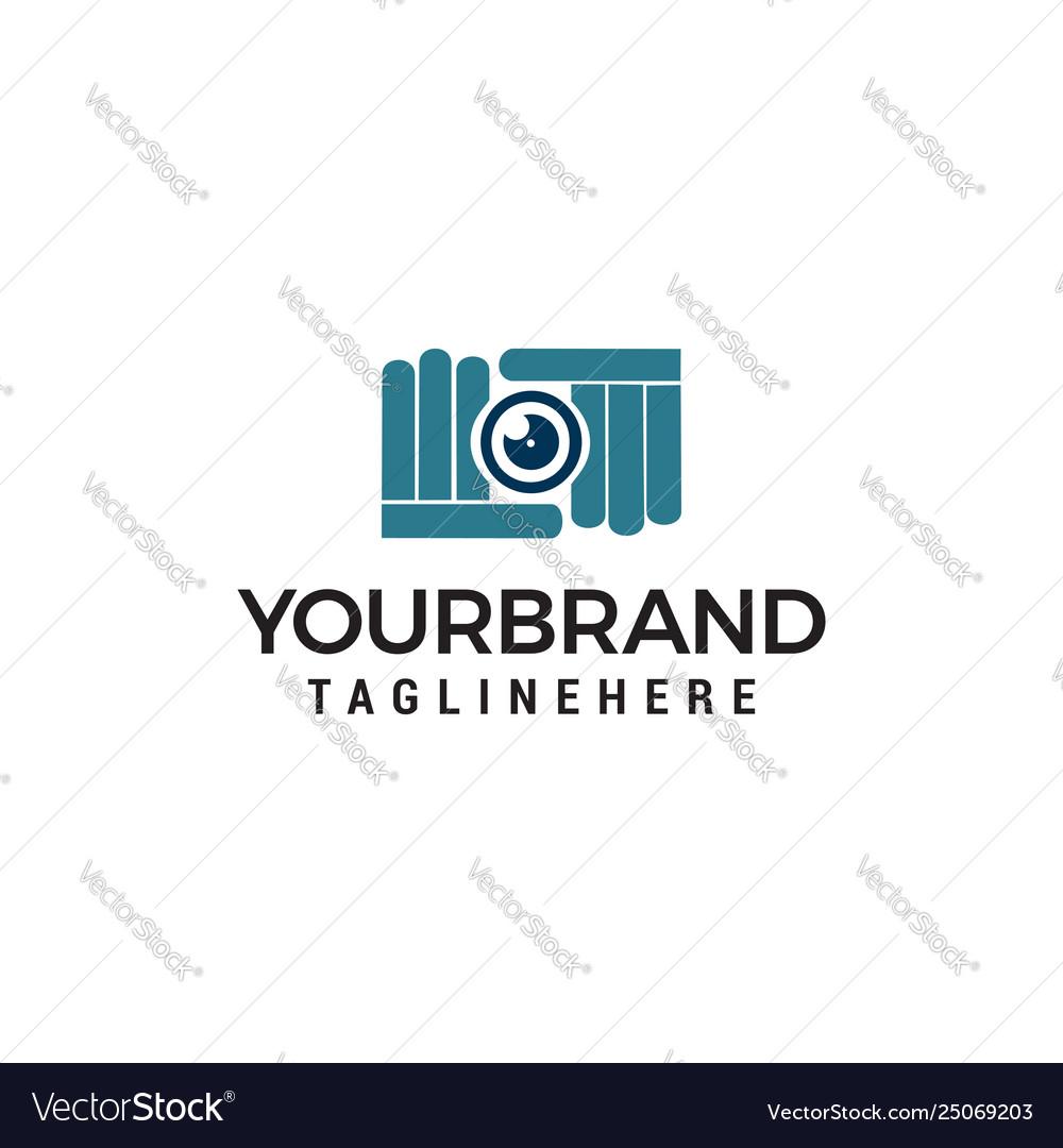 Camera photography shoot logo design concept