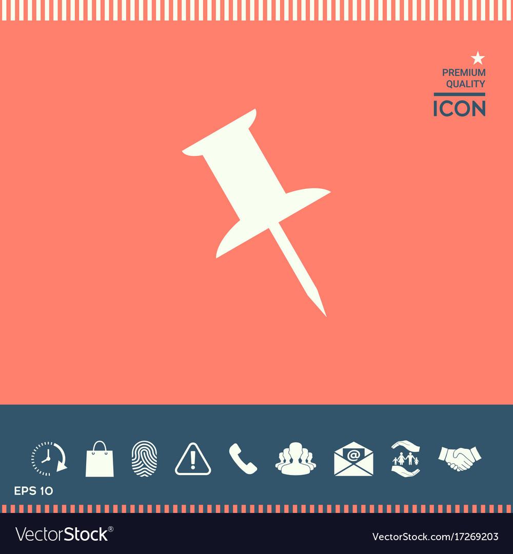 Drawing pin icon