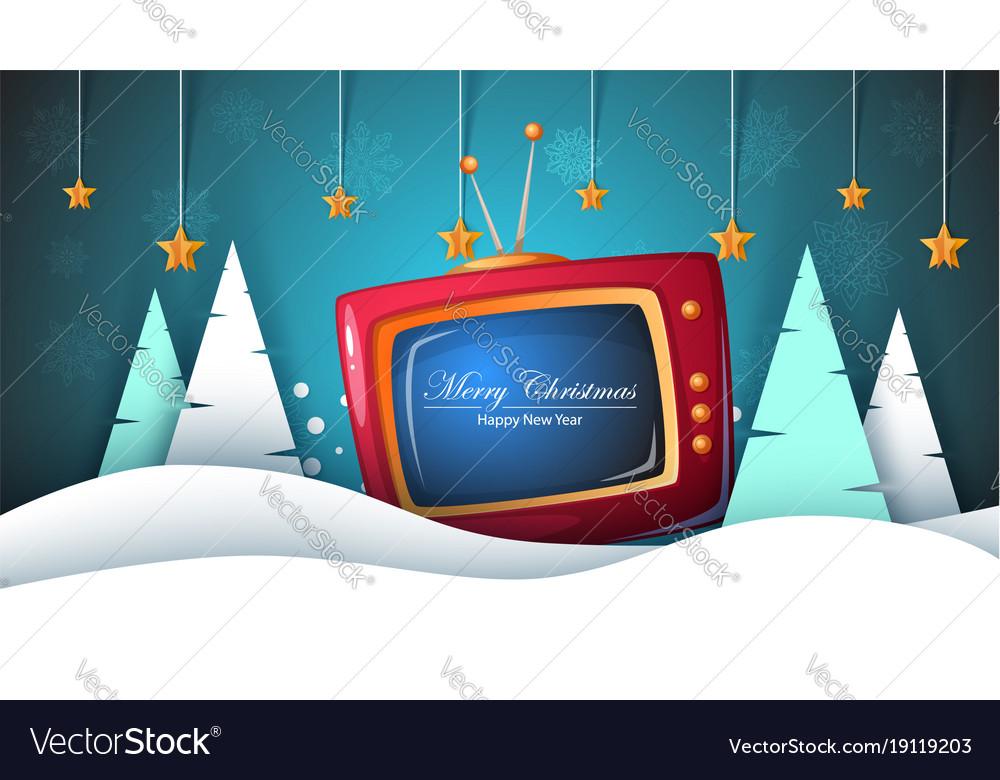 Merry christmas happy new year tv fir