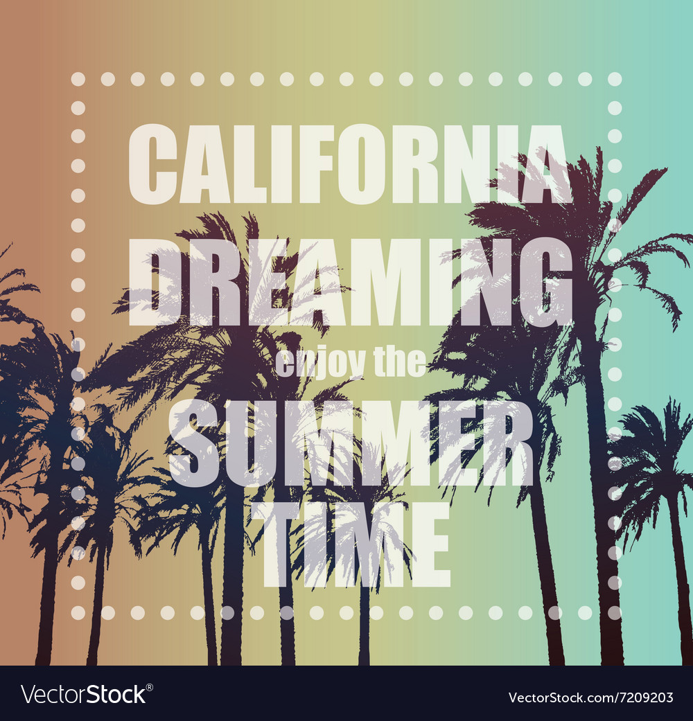 Summer Exotic Banner with Palms vector image