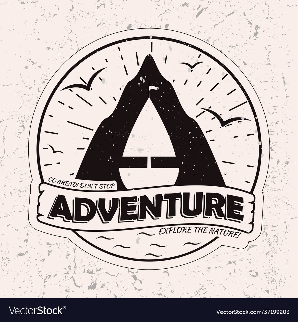 Vitage monochrome outdor adventures logo design