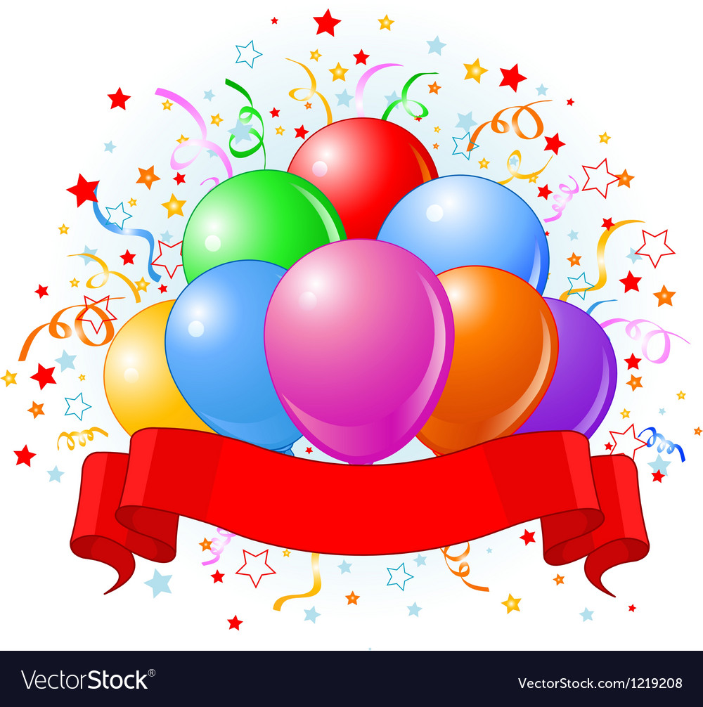 Birthday Balloons Design Royalty Free Vector Image