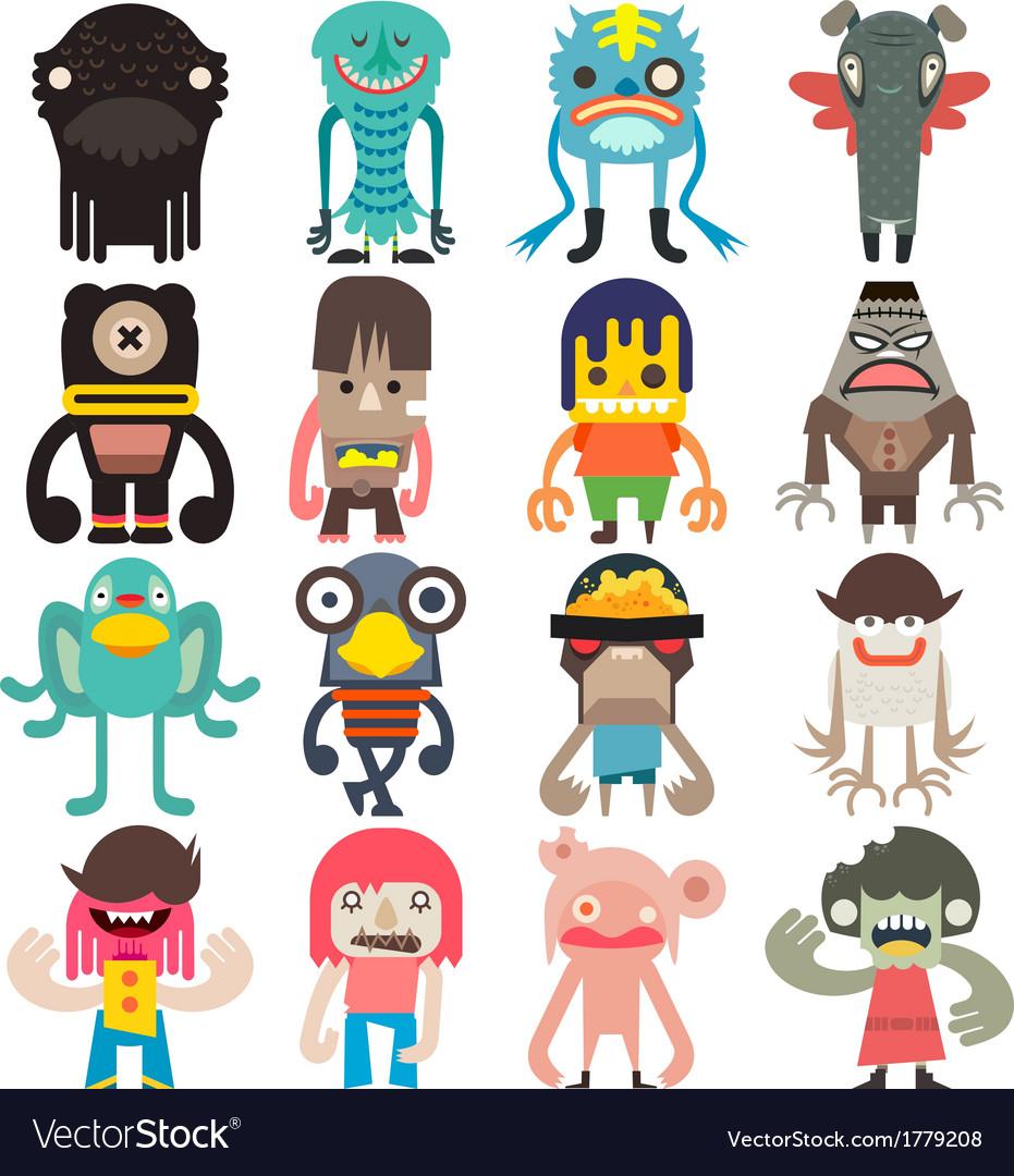 Cartoon cute monsters