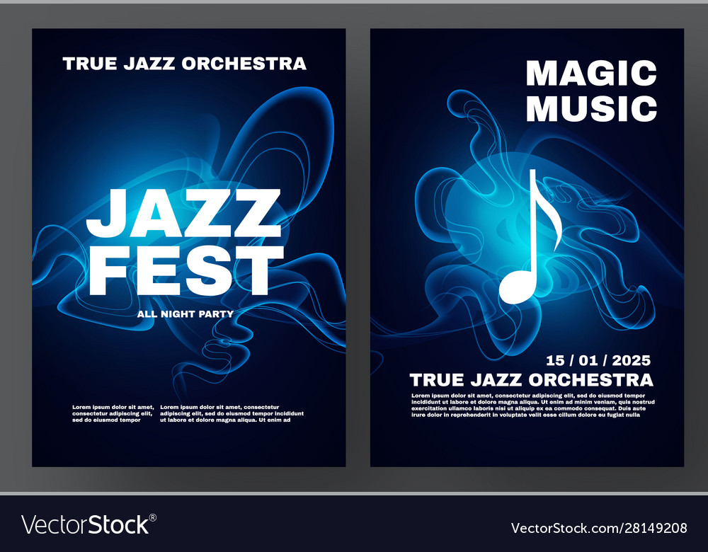 Jazz fest party and show poster template