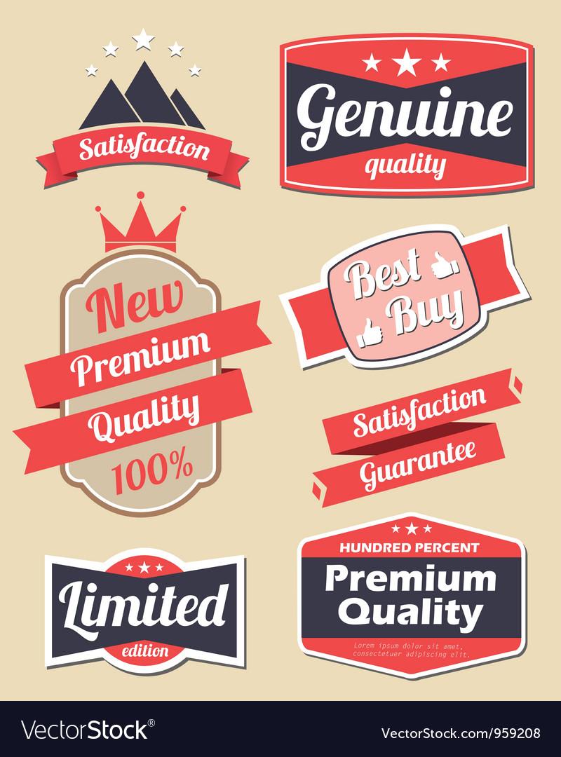 Retro design label set