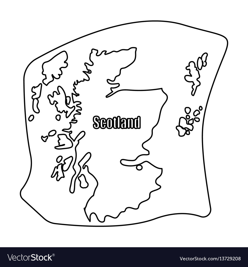 scotland the mapscotland is a country on the vector image Ethernet Diagram
